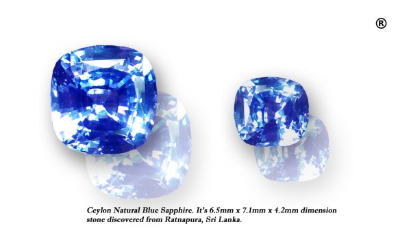 ceylon natural blue sapphire unheated
