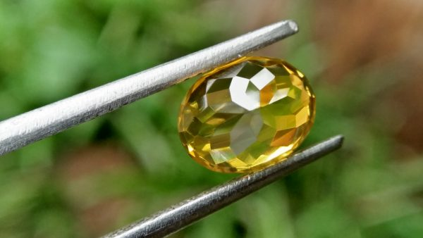 Ceylon Natural Melichrysos, Golden Yellow Zircon Shape : Ovel Shape Colour : Greenish Golden yellow Weight : 2.25Cts Dimension : 7.2mm x 6.1mm x 5.1mm Clarity : Clean stone Mineral : City of Gem Ratnapura Sri Lanka