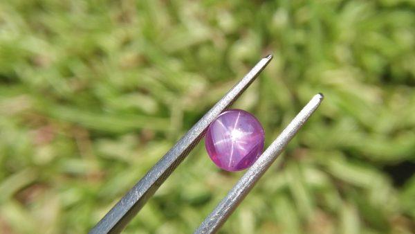 Ceylon Natural Star Pink Sapphire Dimension -: 6.5mm x 6.7mm x 5.30mm Weight -: 2.45Cts Mineral -: Ratnapura, Sri Lanka Treatment -: Unheated/Natural Colour -: Pink Clarity -: SI Clarity