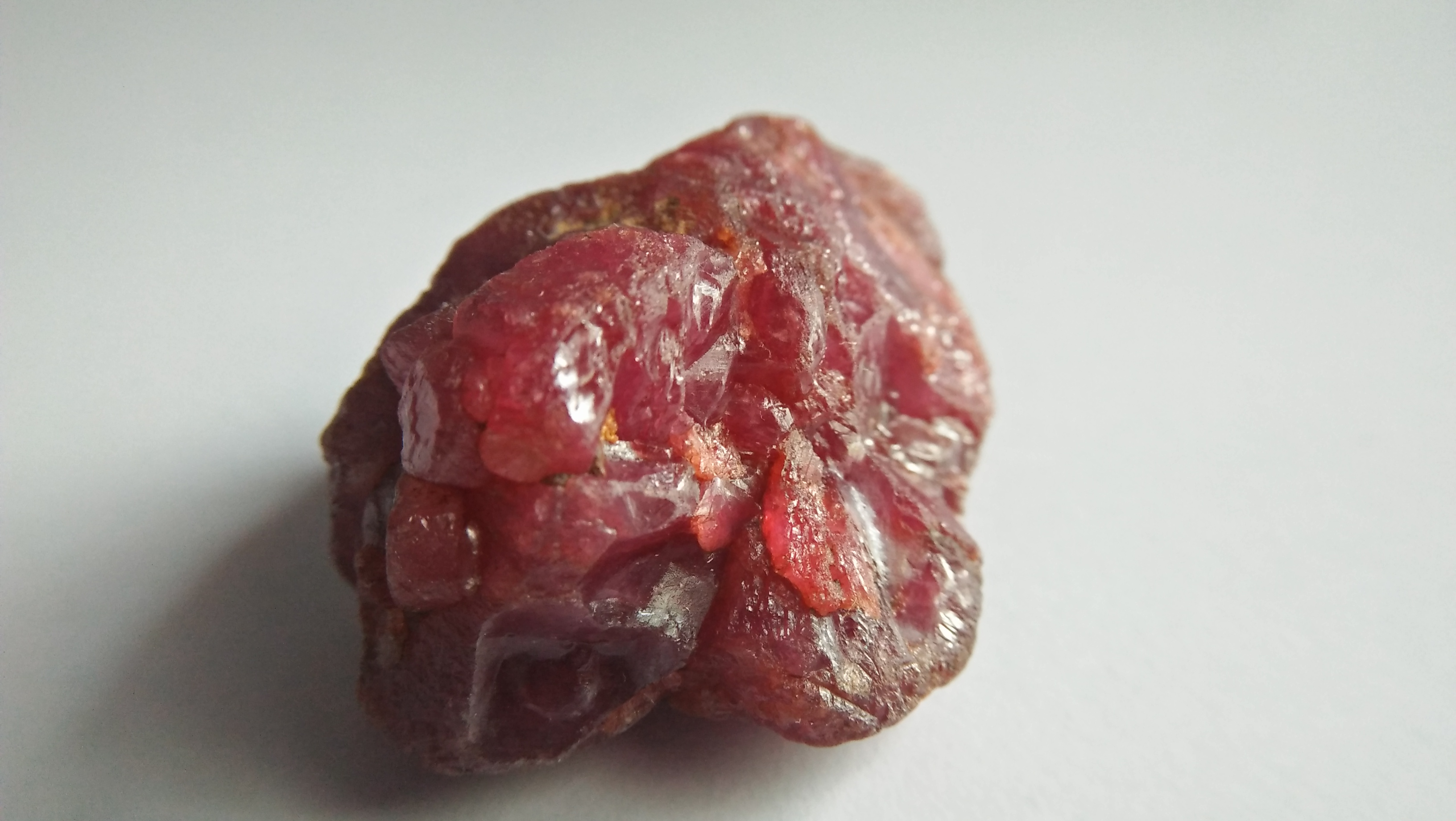 A ruby is a pink to blood-red colored gemstone, a variety of the mineral corundum. Other varieties of gem-quality corundum are called sapphires. Category: Oxide mineral variety Formula: aluminium oxide with chromium, Al2O3:Cr Crystal system: Trigonal Crystal class: Hexagonal Mohs scale: hardness 9.0 Luster: Subadamantine, vitreous, pearly Specific gravity: 3.97 – 4.05 Optical properties: Uniaxial - Refractive index: nω=1.768–1.772 nε=1.760–1.763 Ruby is a powerful stone to shield against negative energy, psychic attack, and energy vampirism, especially of the heart energy.Ruby is a stone of Divine creativity. It boosts your energy levels and promotes high self-esteem, intuition, and spiritual wisdom. According to astrology generally ruby should be worn in ring finger of right hand. Ruby is one of the most popular gemstones, and is used extensively in Jewelry. Ruby is used in all forms of jewelry, including bracelets, necklaces, rings, and earrings.