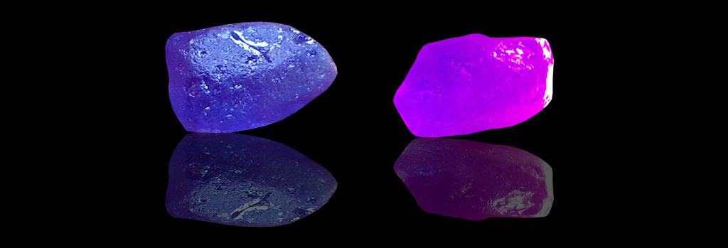 This Colour change sapphire unearthed from city of gem Ratnapura Mineral Sri Lanka A rare variety of natural sapphire, known as color-change sapphire, exhibits different colors in different light. Color change sapphires are blue in outdoor light and purple under incandescent indoor light. Color change sapphires come from a variety of locations are mostly Thailand, Sri Lanka and Tanzania. The color-change effect is caused by the interaction of the sapphire, which absorbs specific wavelengths of light, and the light-source, whose spectral output varies depending upon the illuminant. Transition-metal impurities in the sapphire, such as chromium and vanadium, are responsible for the color change. Sapphire is a precious gemstone, a variety of the mineral corundum, an aluminium oxide. Color: Blue, Green, Purple, Black, Yellow, Pink, White, Grey, Brown, Orange Luster: Vitreous, Adamantine Birthstone zodiac sign: Virgo Associated month: September Crystal system: Hexagonal crystal system Chemical formula: Al₂O₃ Hardness (Mohs hardness scale): 9