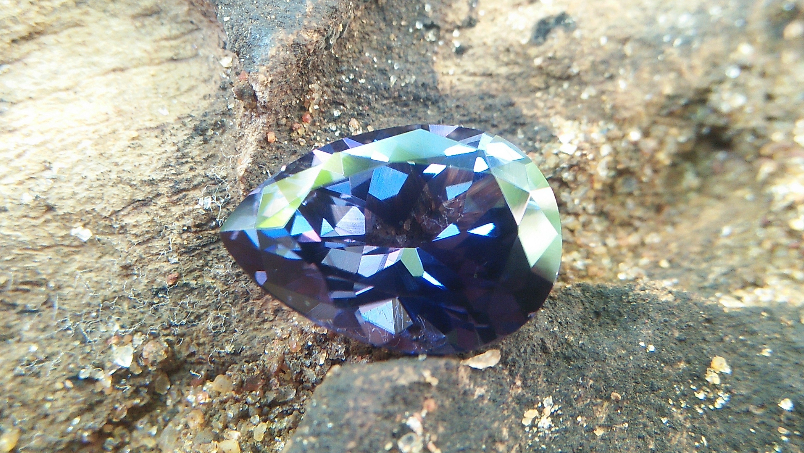 NATURAL BLUE SPINEL Shape : Pear Clarity : Very Clean Treatment : Natural/Unheated Dimension : 10.8mm x 7.5mm x 4.9mm Weight : 2.50 Cts Location : City of Gem Ratnapura Sri Lanka