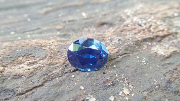 Sapphire is the birthstone for September NATURAL BLUE SAPPHIRE Shape : Ovel Cut : Mixed Cut Dimension : 8.1 mmx 6.5 mm x 4.2 mm Weight : 1.85 Cts Clarity : Flawless/ Clean Colour : Blue Transparency : Transparent