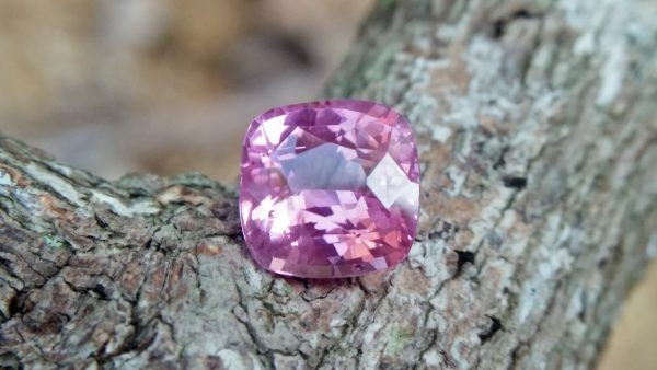 Sapphire is the birthstone for September NATURAL Pink SAPPHIRE Shape : Cution Cut : Mixed Cut Dimension : 5.9 mmx 5.96 mm x 4 mm Weight : 1.30 Cts Clarity : SI Colour : Pink Transparency : Transparent Treatment : Unheated Origin : Sri Lanka
