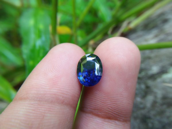"NATURAL BLUE SAPPHIRE (Royal Blue) Colour : Vivid Blue ""Royal Blue"" Shape : Oval Weight : 3.32 CTS Dimension : 10.1 x 7.8 x 4.9 mm Treatment : Heated Clarity : SI • CSL - Colored Stone Laboratory Certified ( GIA Alumina Association Member ) • CSL Memo No : 9BD96BCA857B Sapphire is a precious gemstone, a variety of the mineral corundum, consisting of aluminum oxide with trace amounts of elements such as iron, titanium, chromium, copper, or magnesium. Sapphire deposits are found in Eastern Australia, Thailand, Sri Lanka, China, Vietnam, Madagascar, Greenland, East Africa, and in North America in mostly in Montana. Madagascar, Sri Lanka, and Kashmir produce large quantities of fine quality Sapphires for the world market. Sapphires are mined from alluvial deposits or from primary underground workings. Blue Sapphire and Ruby are the most popular Gemstone in Corundum Family. also, Orangy Pink Sapphire is called Padparadscha. The name Drive's from the Sinhalese word ""padmaraga"" "" පද්මරාග"", meaning lotus blossom, as the stone is of a similar color to the lotus blossom. Bi-Color Sapphire from DanuGroup Collection Also, Sapphire can be found as parti-color, bi-color or fancy color. Australia is a main parti-color Sapphire producer. White Sapphire also, White sapphire is a very popular stone to wear instead of Diamond as a 3rd hardness gemstone after diamond ( moissanite hardness is 9.5). Various colors of star sapphires A star sapphire is a type of sapphire that exhibits a star-like phenomenon known as asterism. Also, A rare variety of natural sapphire, known as color-change sapphire, exhibits different colors in a different light. Sapphires can be treated by several methods to enhance and improve their clarity and color. A common method is done by heating the sapphires in furnaces to temperatures between 500 and 1,850 °C for several hours, or by heating in a nitrogen-deficient atmosphere oven for 1 week or more. Geuda is a form of the mineral corundum. Geuda is found primarily in Sri Lanka. It's a semitransparent and milky appearance due to rutile inclusions. Geuda is used to improve its color by heat treatment. Some geuda varieties turn to a blue color after heat treatments and some turn to red after oxidizing. Also, Kowangu pushparaga turns to yellow sapphire after oxidizing. Sapphire Crystal system is a Trigonal crystal system with a hexagonal scalenohedral crystal class. Sapphire hardness is 9 according to the Mohs hardness scale with 4.0~4.1 specific gravity. Refractive index ω          =1.768–1.772 nε =1.760–1.763 Solubility = Insoluble Melting point = 2,030–2,050 °C Birefringence  = 0.008 Pleochroism = Strong Luster = Vitreous Sapphire is the birthstone for September and the gem of the 45th anniversary. Healing Properties of Sapphire Sapphire releases mental tension, depression, unwanted thoughts, and spiritual confusion.  Sapphire is known as a ""stone of Wisdom"". It is exceptional for calming and focusing the mind, allowing the release of mental tension and unwanted thoughts. Sapphire is also the best stone for awakening chakras. Dark Blue or Indigo Sapphire stimulates the Third Eye chakra. Blue Sapphire stimulates the Throat Chakra. Green sapphire stimulates Heart Chakra. Black Sapphire stimulates Base Chakra. White sapphire stimulates Crown Chakra. Yellow sapphire stimulates Solar Plexus Chakra. Blue Sapphire stimulates the Throat Chakra and Third eye chakra, the voice of the body. Blue crystal energy will unblock and balance the Throat Chakra. blue encourages the power of truth, while lighter shades carry the power of flexibility, relaxation, and balance. Blue Sapphire can free one of mental anxiety, helps make one detached, and protects against envy. Also, It can be worn for good luck and for protection against evil spirits. Since Saturn rules the nervous system, blue sapphires help problems of the nerves-tension and neuroses-diseases caused by an afflicted Saturn."