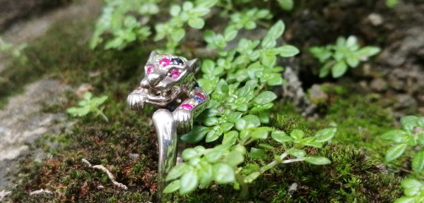 Natural Multicolor Gemstines Tiger Ring - Standards 925 Silver Stones : Blue Sapphire, Pink Sapphire, Citrine, Peridot, White Topaz Stone Shape: Round Clarity: Clean Metal: Standard 925 Silver Weight : 5.50g