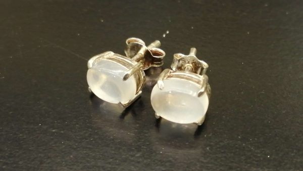 Natural Moonstone Standard 925 Silver Earing 月亮石銀耳環