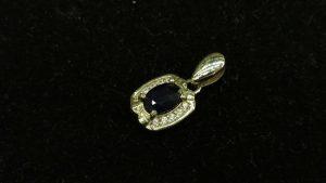 Metal : Silver  Stone : Dark Blue Sapphire   Type : Pendant   Weight :. 1.12 g   黑暗蓝宝石銀吊飾  宝石 :黑暗蓝宝石  颜色 : 黑暗蓝色  透明 : 好透明   金属:银  重量:1.12  克