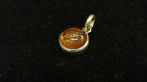 Metal : Silver  Colour :  Orange   Stone : Hassonite garnet   Type :  Pendant   Weight : 7.11 g  Cut : Cabochon      肉桂石銀吊飾 (石榴石)   宝石 :肉桂石   (石榴石)   颜色 : 橙色  透明 : 好透明   金属:银  重量:7.11 克