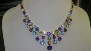 Multicolor Natural Gemstone Necklace