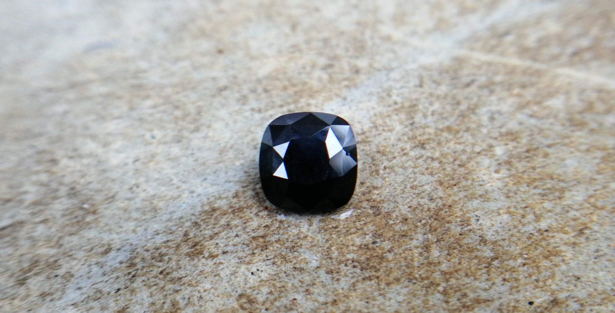 ceylon natural dark bluesapphire kaka nil