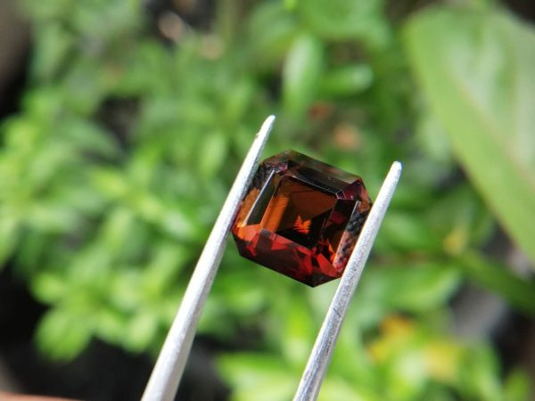 Colour : Orangy-Brown Shape : Octagon Weight : 5.94 Cts Dimension : 10.2 x 10.2 x 8.0 mm Treatment : Unheated Clarity : VVS • CSL - Colored Stone Laboratory Certified ( GIA Alumina Association Member ) • CSL Memo No : CD366298D668 Dravite Tourmaline Sri Lanka Dravite is the sodium magnesium rich Variety in the tourmaline family. Tourmaline is a crystalline boron silicate mineral compounded with elements such as aluminium, iron, magnesium, sodium, lithium, or potassium. The gemstone comes in a wide variety of colors such as black, brown, red, orange, yellow, green, blue, violet, pink, bi-colored, tri-colored and rarely can be neon green or electric blue. Tourmaline pleochroism is typically moderate to Strong. It is Cyclosilicate mineral with 7-7.5 hardness according to the more hardness scale and 3.06 (+.20 -.06) specific gravity. It is a Double refractive, uniaxial (-) mineral with the Trigonal crystal system. Tourmaline can be seen fluorescent inert to very weak red to violet in the long and short wave in pink Stones. Tourmaline can be found in India, Brazil, Tanzania, Nigeria, Kenya, Madagascar, Mozambique, Namibia, Afghanistan, Sri Lanka, USA, Ethiopia. Tourmaline Healing Properties Tourmaline balances the right-left sides of the brain. It Helps treat paranoia, overcomes dyslexia. Also, It Improves circulation and supports the liver and kidneys.                            Tourmaline helps to eliminate toxic metals in the body and Reduces lactic acids and free fatty acids. It is a stone of purification, cleansing the emotional body of negative thoughts, anxieties, anger, and feelings of unworthiness.                         The brown tourmaline brings gentle and soothing healing of your emotional body. It is a very strong grounding stone that raises one's stamina and protective energies. Brown tourmaline works specifically with the heart chakra to provide self-healing and rejuvenating energies.