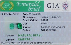Emerald is a variety of the mineral beryl colored green by trace amounts of chromium and sometimes vanadium