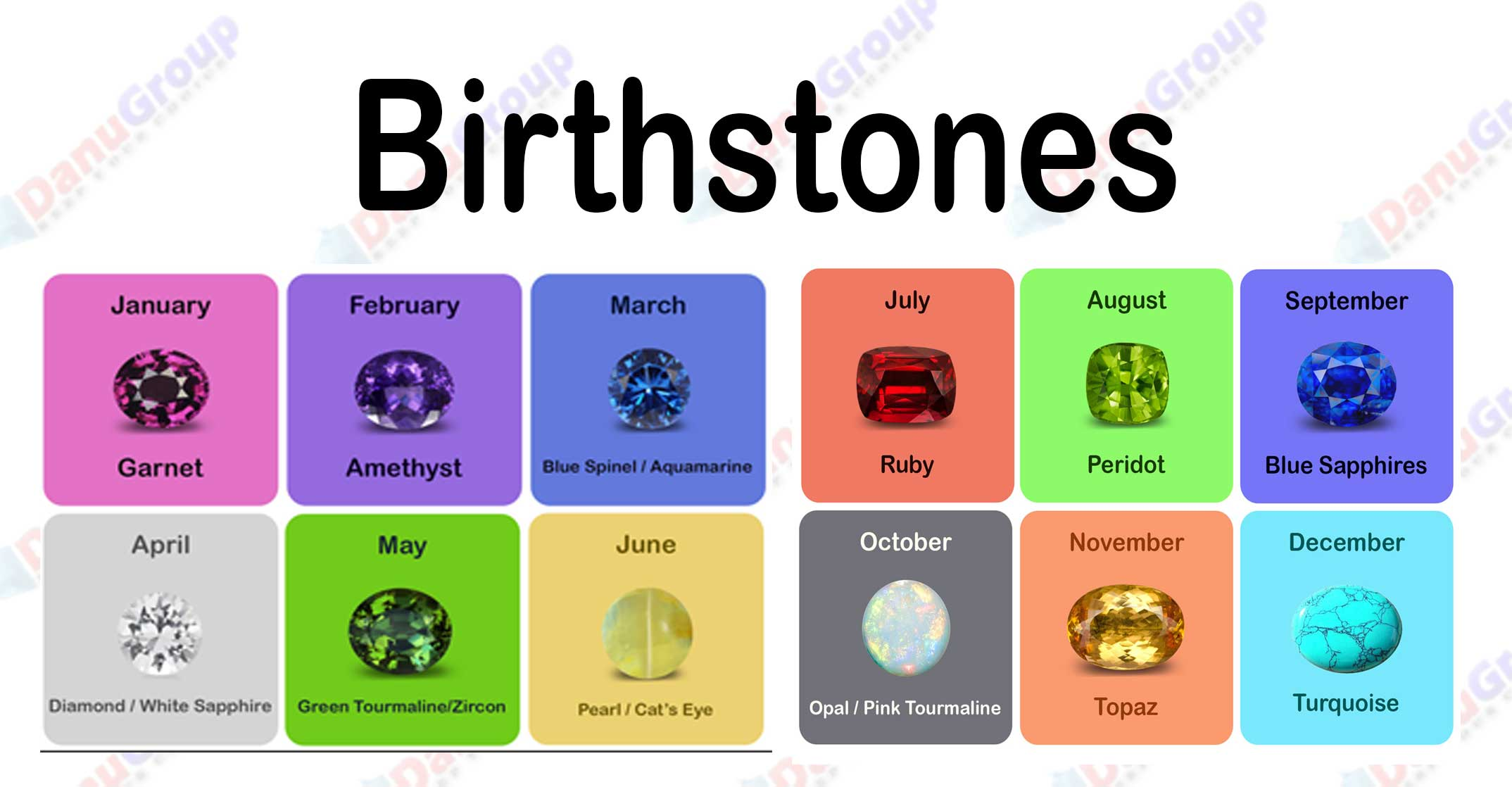 Choose your gemstone associated with yout month of birth