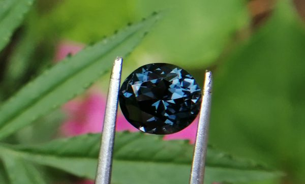 Colour : Blue Shape : Oval Weight : 1.55 Cts Dimension : 8.0 x 6.9 x 4.1 mm Treatment : Unheated Clarity : I Spinel is the magnesium-aluminum member of the larger spinel group of minerals with chemical formula MgAl₂O₄. Spinel is actually a large group of minerals. Gahnite, hercynite, ceylonite, picotite, and galaxite are all part of the spinel group. This oxide mineral is a Cubic crystal system with 7.5–8.0 hardness according to the Mohs hardness scale. Spinels Specific Gravity is depending on the composition of chemicals such as Zn-rich spinel can be as high as 4.40, otherwise, it averages from 3.58 to 3.61. Spinel has many colors such as red, pink, blue, lavender/violet, dark green, brown, black, colorless, gray. Spinel is a single reflective Non-pleochroic gemstone and Anomalous in some blue zincian varieties. It can be found as Opaque, Translucent or transparent. Spinel RI value is n = 1.719 Some red and pink spinels have fluorescence under UV Light. also, Some spinels have magnetism Weak to medium. Natural spinels typically are not enhanced. Spinels are found in Madagascar, Sri Lanka, Vietnam, Myanmar, Tanzania, Kenya, Nigeria, Afghanistan, Albania, Algeria, Atlantic Ocean, Australia, Belgium, Bolivia, Brazil, Cambodia, Canada. Spinel has long been found in the gemstone-bearing gravel of Sri Lanka. Since 2000 in several locations around the world have been discovered spinels with unusual vivid colors. when the mineral is pure, it's colorless. That's called allochromatic gemstones. Als, Spinels are found with 4-rayed stars and 6-rayed stars. Some spinels are found with a color-changing effect such as Blue to violet, Grayish-blue to reddish-violet and some stones from Sri Lanka change from violet to reddish violet, due to the presence of Fe, Cr, and V. Blue Spinel is a very special gemstone because it is one of the few that occur naturally. The blue Spinel is colored from the impurity of Cobalt in the crystal lattice. High Color saturation in blue Spinels are always colored by Cobalt and are extremely rare to find. Cobalt spinel has high market value. Healing Properties of Spinels 👇 Spinel is known as the stone of revitalization. This MgAl2O4 mineral powers make the gums and teeth stronger and is also beneficial for gums, skin, slimming the healthy and overweight body and cancer healing. Spinel promotes physical vitality, refills the energy and eases exhaustion. Spinel is a very soothing stone, as it calms and relieves stress, anxiety, PTSD and depression. Also, Spinel is working with chakra balancing. Black Spinel - Earth Star Chakra , Red or Pink - Spinel Base Chakra, Green Spinel - Heart chakra, Blue Spinel - Throat chakra, Purple Spinel - Crown chakra.