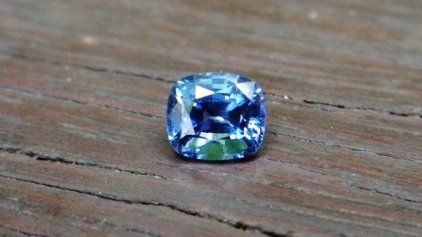 Ceylon Blue Sapphire Cushion shape very attractive cornflower blue color stone from RATNAPURA mine