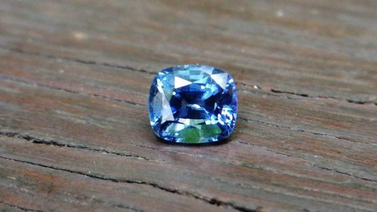 Ceylon Blue Sapphire Cushion shape very attractive cornflower blue color stone from RATNAPURA mine