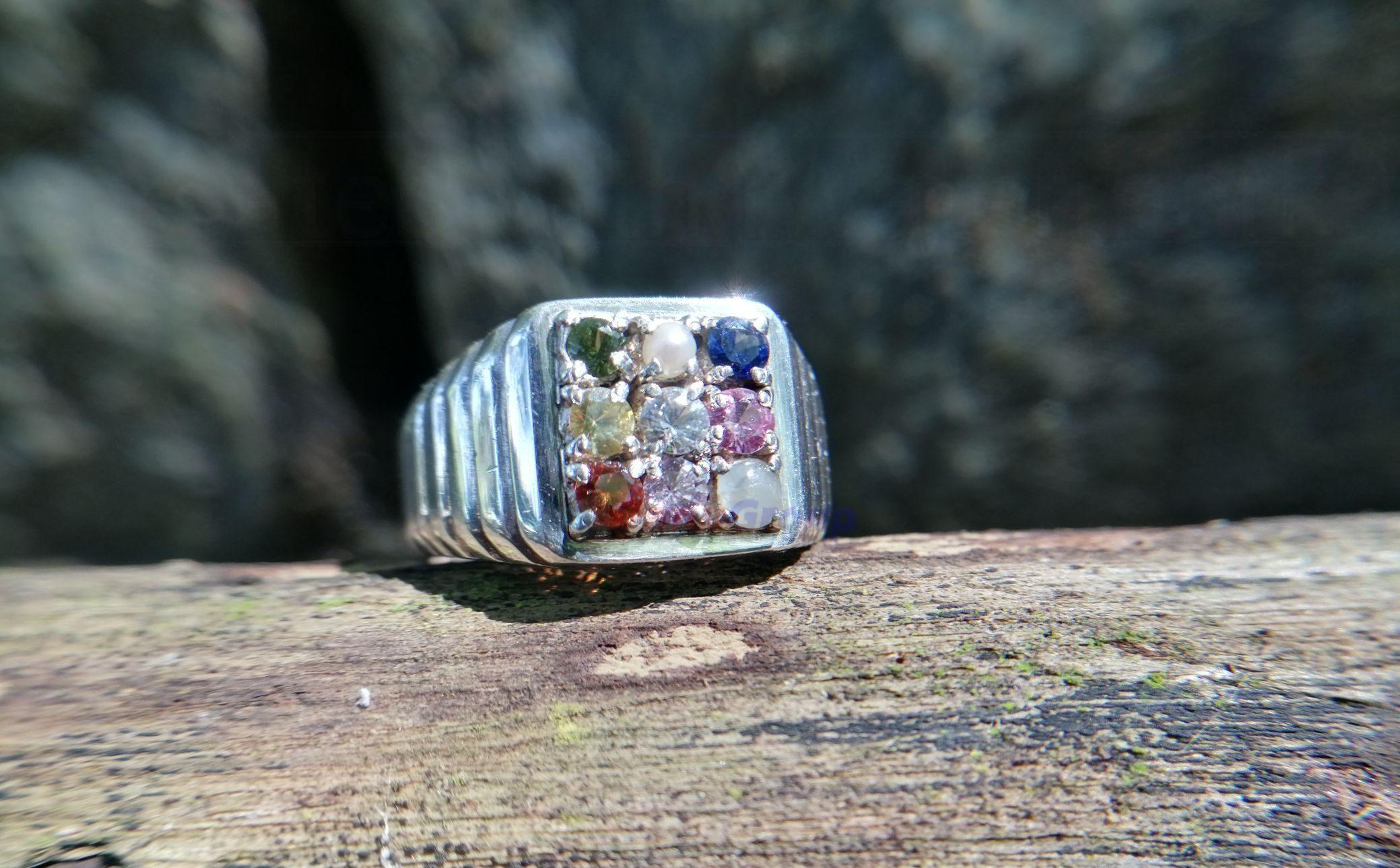 Natural 9 Gemstones Ring - Nawarathna