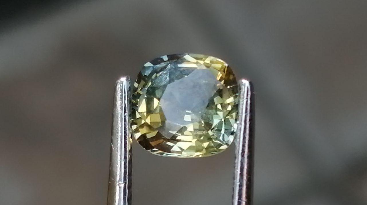 Natural Bi Colour Sapphire Wedding Stone