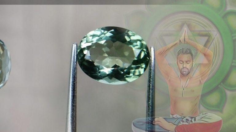 Prasiolite green quartz