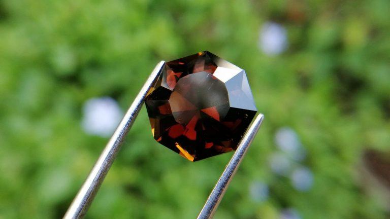 12_Natural Dravite Tourmaline Jillson Octagon spiral cut Danu Group gemstones