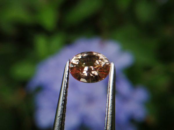 Natural Suset Light Padparadscha Sapphire Ceylon king sapphire from Ratnapura underground mining danu Group Gemstones