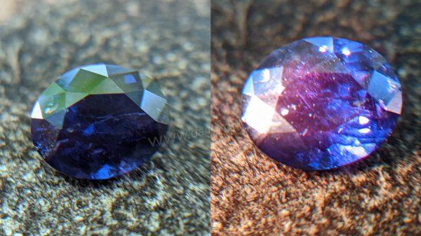 Ceylon Natural colour change Sapphire Danu Group Gemstone