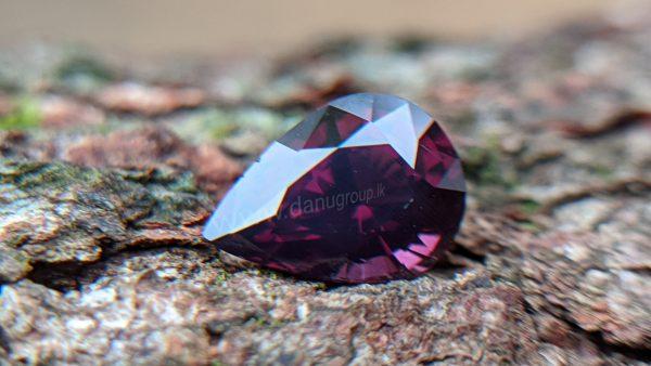 Ceylon Natural Purple Spinel Drop Shape stone - Danu Group Gemstones Collection