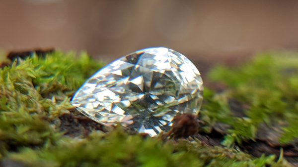 Ceylon Natural White Sapphire Pear Shape Gemstone Danu Group Gemstones Mining