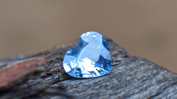 Ceylon Natural Blue Sapphire Heart from Danu Group collection 2021 January