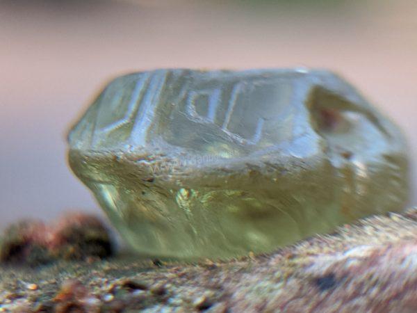 Ceylon Natural rare chrysoberyl Sixling half crystal with cats eye effect Danu Group rare collection