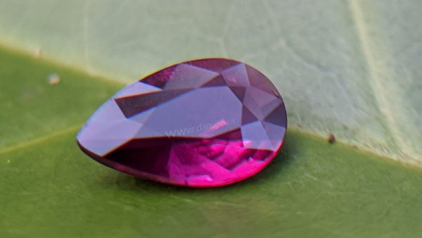 Ruby - Amazing Pear (drop ) shape Natural Ruby From Danu Group Gemstones Collection