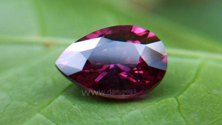 Ceylon Natural Pear Drop shape Brilliance Garnet From Danu Group Gemstones Collection