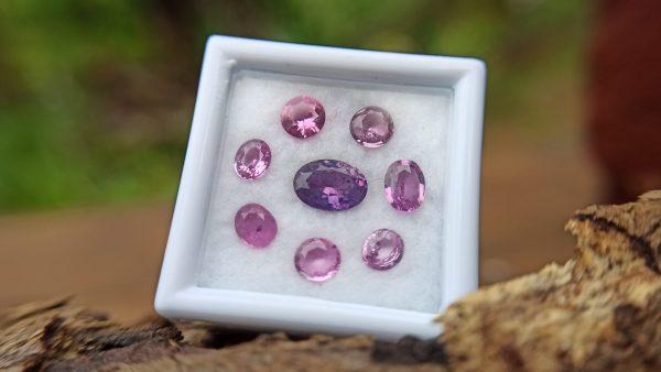 Ceylon Pink Sapphire Gemstones Lot danugroup.lk