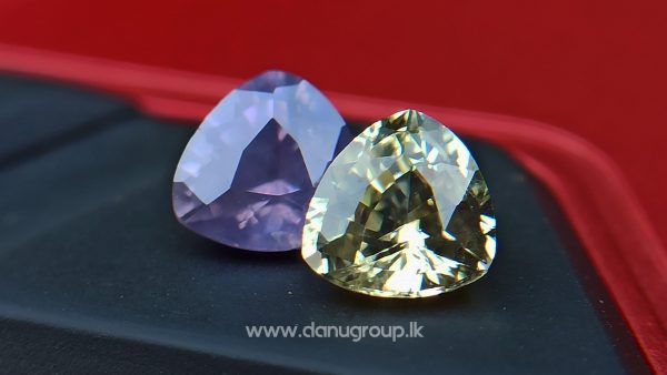 danugroup.lk - natural purple and yellow sapphire from Danu Group Fancy Sapphire couple