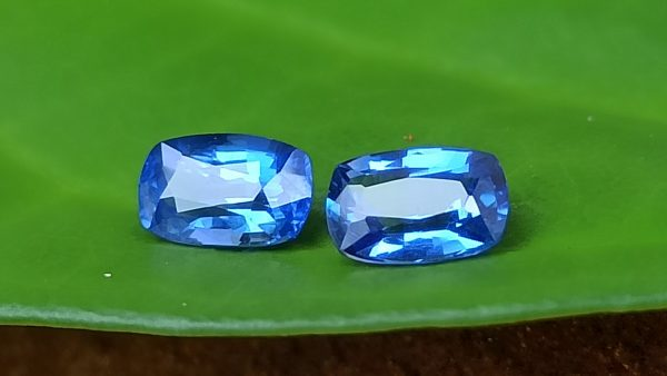 Ceylon Natural Cornflower Blue Sapphire Pair Danu Group Gemstones pair