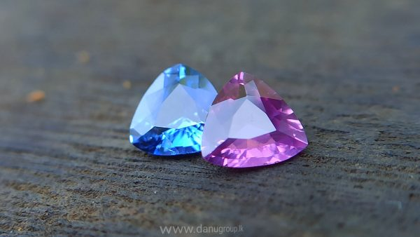 Ceylon Natural Blue & Pink Sapphire Couple - Danu Group Gemstones danugroup.lk Danu Group Gemstones