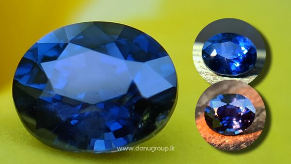 danugroup.lk - ceylon natural color change sapphire ( blue to purple color changing ) from Danu Group Gemstones