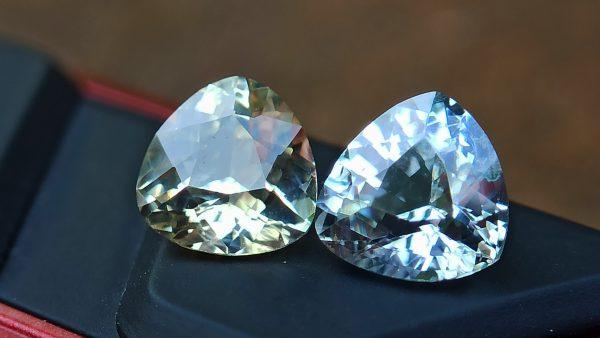 danugroup.lk - ceylon natural yellow sapphire and white Sapphire - Natural Fancy Sapphire Couple from Danu Group
