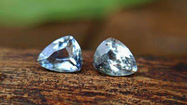 Ceylon Natural Bi Colour Sapphire and light yellow sapphire - Natural Fancy Sapphire couple from Danu Group