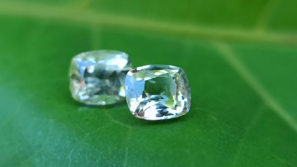 Ceylon Natural Yellow Sapphire Cushion shape Couple Danu Group Gemstones Collection