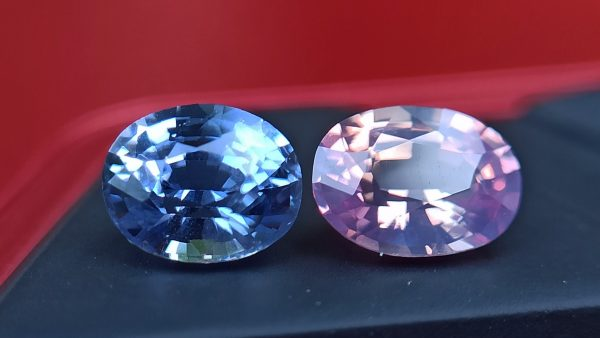 Ceylon Natural Fancy Sapphire Couple - Danu Group Gemstones Collection