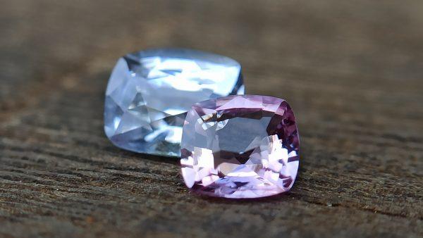 danugroup.lk - Ceylon Natural white and pink sapphire couple - danu group Gemstones