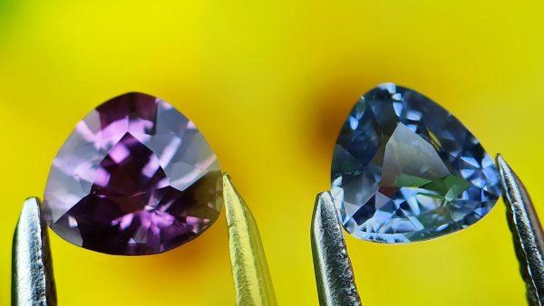 ceylon natural purple and blue sapphire danu group gemstones