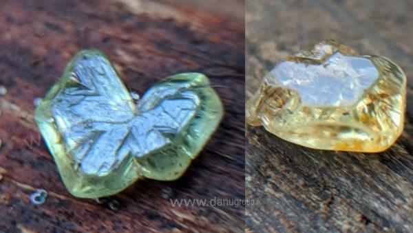 "Rare Natural Chrysoberyl Sixling Crystal "" Butterfly"" Crystal "" And Half Petal Crystal"