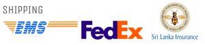 danu group shipping method ems and fedexwith insurance by sri lanka insuarance