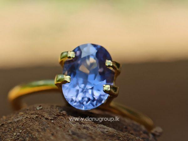 Ceylon Natural Purple Sapphire Oval Shape Gemstone Danu Group Gemstones - danugroup.lk